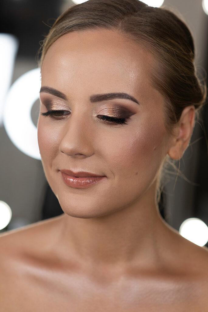 elegancki makijaż ślubny glamour kasia stach makeup